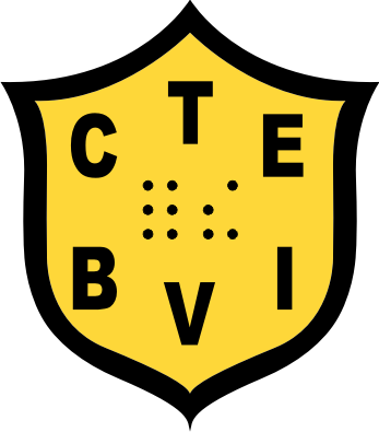 California Transcribers and Educators for the Blind and Visually Impaired (ctebvi) Logo. It has CTE at the top, for the in braille font, and BVI underneath with a yellow background.